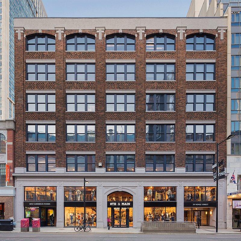 6-storey brick heritage building facade